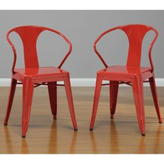 Red Tabouret Stacking Chairs (Set of 4) | Overstock.com