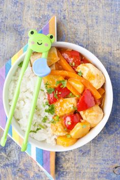 Sweet and sour chicken with no added sugar. Naturally sweetened and perfect for kids.