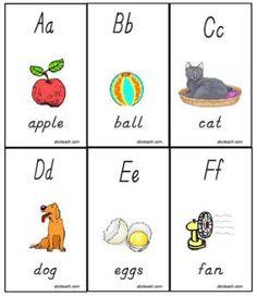 13 Sets of Free, Printable Alphabet Flash Cards: Printable Alphabet Flash Cards by ABC Teach