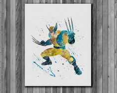 Wolverine Poster  Marvel Comics   watercolor by digitalaquamarine
