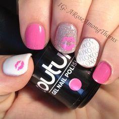 VALENTINE by aroseamongthorns #nail #nails #nailart