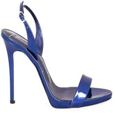 Giuseppe Zanotti Sophie Sandals (€256) ❤ liked on Polyvore featuring shoes, sandals, bluette, giuseppe zanotti, giuseppe zanotti shoes and giuseppe zanotti sandals