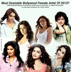 Most Desirable Bollywood Female Artist Of 2013?