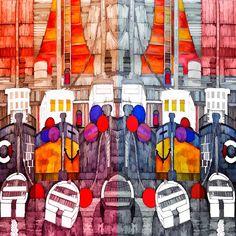 Rainbow Fleet at Rest by christo65