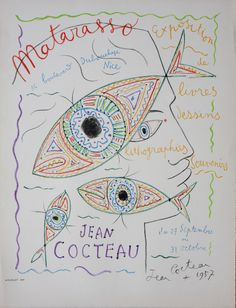 Jean Cocteau, French (1889-1963)	 Galerie Matarasso 1957. LITHOGRAPHIC POSTER