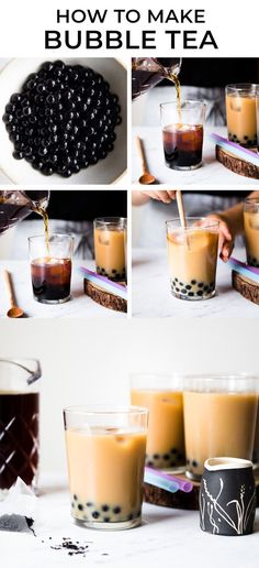 Ever wondered how to make bubble tea? Here is a simple bubble tea recipe that shows how you can make this beverage at home! #milktea #boba #bubbletea #beverage #drink Tea Recipes, Coffee Recipes, Dessert Recipes, Tumeric Tea Recipe, Boba Tea Recipe, How To Make Bubbles, Boba Drink, Asian Tea, Best Food Photography