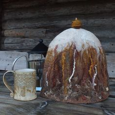 French Coffee Pot Warmer Felted French Press Pot by MadebyReena