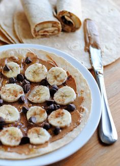 These peanut butter banana wraps are simple enough for most kids to make. Chocolate chips and a sprinkle of cinnamon make this an extra special breakfast treat. Serve with a cup of hot tea for a happy mom!
