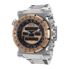 Men's Wrist Watches - Invicta Mens 13075 Coalition Forces AnalogDigital SwissQuartz Silver Watch ** See this great product.
