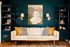 | Flickr - Photo Sharing - Interiors - love the wall color, sofa, Art,...