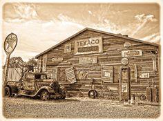 Vintage Service Station Photograph by Steve McKinzie