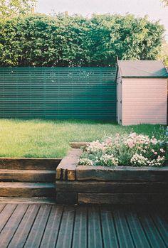 The Garden Before & After 🌿 – Poppy Deyes Poppy Deyes, Dark Walls, Colour Pallete, Door Wall, Next Door, Garden Spaces, Winter Garden, Flower Beds, Gardening Tips