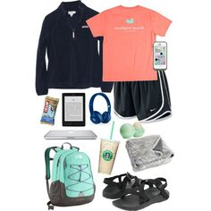 Roadtrip by taylorbenson on Polyvore featuring polyvore, fashion, style, Vineyard Vines, NIKE, Chaco, The North Face, Beats by Dr. Dre, Eos and Pier 1 Imports
