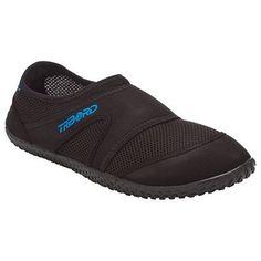 bb582cdd7cab9 Chassures aquatiques Aquashoes 100 noires bleues SUBEA. Chaussures  aquatiques ...