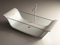 Corian® bathtub CHAISE LONGUE VITRE by MOMA Design by Archiplast