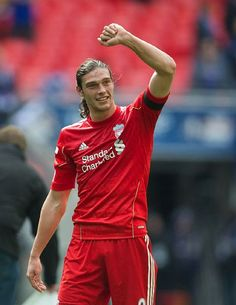 Andy Carroll - it had to be didnt it. Celebrates winner in Semi Final Vs the Bluenoses Manchester United City, Newcastle United Fc, Liverpool Players, Liverpool Fans, Andy Carroll, Aston Villa Fc, This Is Anfield, Today's Man, Everton Fc