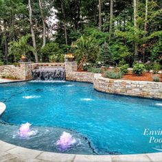 Gunite Pool With Bubblers Ma Backyard Designs Landscaping Swimming