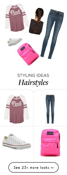 """School..."" by sammytharpe on Polyvore featuring Frame Denim, Converse and JanSport"