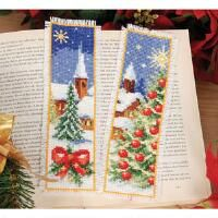 Vervaco® Christmas Village Bookmarks Counted Cross-Stitch Kit