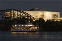 See the lights and sites of Downtown Little Rock aboard the Arkansas Queen. #Arkansas