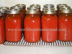 Canning Tomato Juice - New Life On A Homestead - great process and other good recipes.