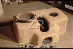 Reproduction of a cooking stove from Roman Jerusalem.