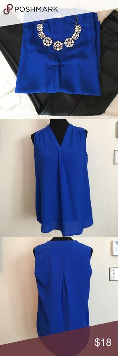 Pleione tank blouse size medium Pleione tank blouse size medium, pants and necklace not included, tiny snag shown in pic barely noticeable Pleione Tops Blouses