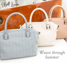 Adding woven texture to your accessories this season will create the perfect look! Shop the Isabel Satchel!