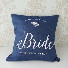 Bride 【名入れ】ウェディングクッションカバー