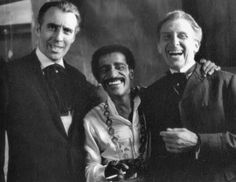 Christopher Lee, Sammy Davis Jr. and Peter Cushing. Did anyone else know that Christopher Lee used to be young?