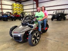 Thanks to George and Mary Smith from Lena MS for getting a 2015 Can-Am Spyder F3 at Hattiesburg Cycles
