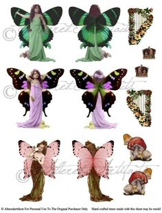 Printable Fairy Paper Doll Printable Paper by AlteredArtifacts
