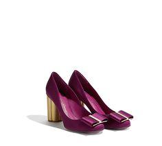 Flower Heel Bow Pump Shoes - Women - Salvatore Ferragamo