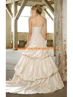 elegante perline raso avorio abito da sposa di design 2013