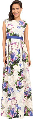 Adrianna Papell Womens Tropical Floral Ball Dress Purple Multi Dress 8 ** Check this awesome product by going to the link at the image.