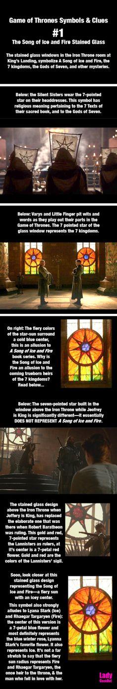 The Song of Ice and Fire stained glass windows. #R+L=J #GOT #ASOIAF #jonsnow #nedstark #lyannastark #sonoficeandfire