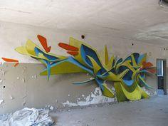 3D graffiti gemaakt door Peeta