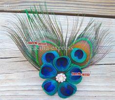 Wholesale Peacock Feather Hair Clip Bridal Fascinator, wedding hair accessories, bridal hair clip peacock, Free shipping, $32.69-36.0/Piece | DHgate