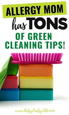 As a Mom with severe allergies, I want to keep my house clean and safe, but using Windex and Bleach is definitely NOT part of my natural living worldview! Here are all my best tips and ideas for natural living green cleaning.