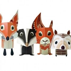 #toys Mibo Forest Friends Paper animals kit £6.95