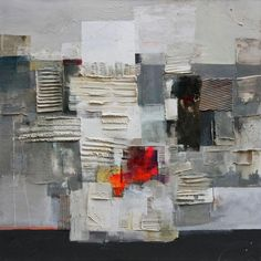 Montagna, Ester Maria Negretti, mixed media on canvas 100x100cm