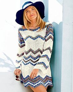 Zig-Zag Tunic free crochet graph pattern (with lots of other tunic patterns).