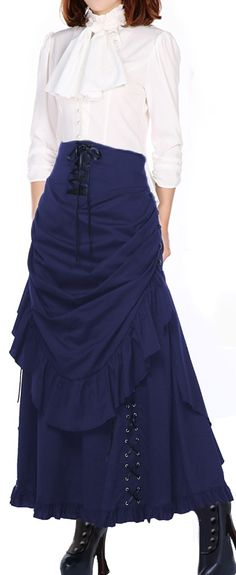 Victorian Steampunk Bustle back  Skirt --Chic Star designed by Amber Middaugh Skirt Standard $75.95 Plus Size $89.95