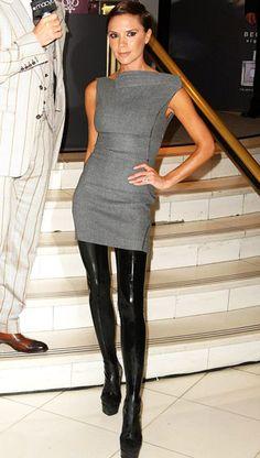 Victoria Beckham tigh high boots