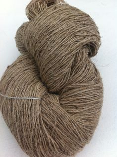 Yarn: Handspun organic nettle yarn which has been spun with sheep wool to form an edgy chunky and unique handmade yarn. Color: natural brown Yardage: 270 yards approx per 100 grams Handspun organic nettle yarn from Nepal grows na. Sisal, Natural Moth Repellant, Animal Fibres, Weaving Yarn, Yarn Inspiration, Paracord Projects, Types Of Yarn, Yarn Shop, Natural Brown