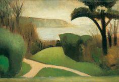 Mark Gertler, Near Swanage, 1916, Oil on board, Pallant House Gallery (Kearley Bequest, through The Art Fund, 1989) © Luke Gertler