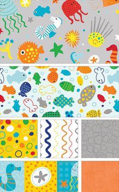 In The Ocean by Lesley Grainger for Riley Blake Designs
