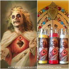 Saint Beetlejuice Prayer Candle. Horror Retro por GreaserCreatures, $6.99