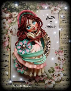 Doll polymer clay fimo Polymer Clay Mermaid, Clay Mugs, Polymer Clay Crafts, Minis, Diy And Crafts, Pasta, Dolls, Disney Characters, Pictures