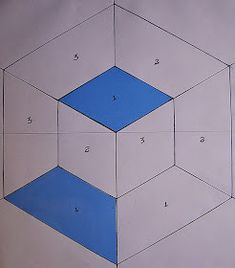 PATCHWORK ARTE EM TECIDOS: CUBO TRIDIMENSIONAL Hexagon Quilt, Quilt Block Patterns, Pattern Blocks, Crochet Patterns, Tumbling Blocks Quilt, Quilt Blocks, Optical Illusion Quilts, Quilting, Felt Fairy